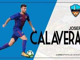 Josep Calavera se marcha al Lleida. Twitter/Lleida_Esportiu
