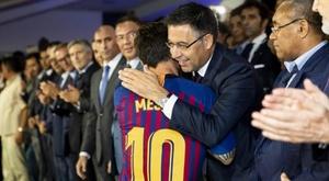 Réunion au Barça entre Messi et les capitaines. EFE