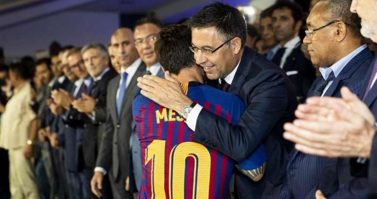 Bartomeu believes that Messi will always be a part of Barca. EFE