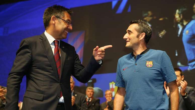 The Barca President believes that Valverde is the ideal coach. EFE