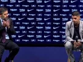 Bartomeu espera que Suárez pueda despedirse de la hinchada en el campo. Captura/BarçaTV