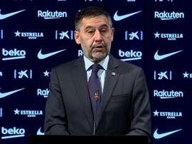 Bartomeu habló del 'caso Messi'. Captura/BarçaTV
