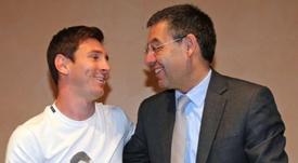 Bartomeu elogió a Messi. EFE