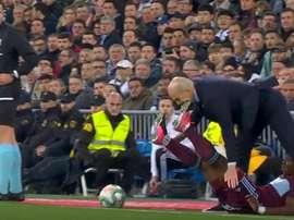 Aidoo a avoué qu'il se sentait mal à propos des memes de son tacle sur Zidane. Captura/Movistar