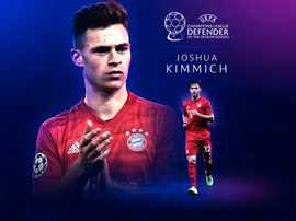 Kimmich has been named best defender. UEFA