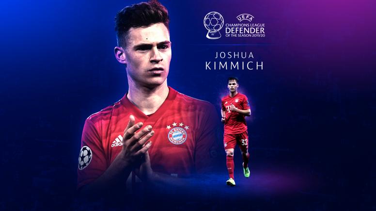 Kimmich, el mejor defensa de la temporada. Captura/UEFA
