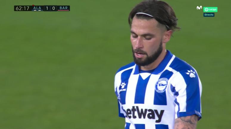 Jota was sent off. Screenshot/MovistarLaLiga