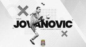 Jovanovic, cedido al Cartagena por el Cádiz. Twitter/FCCartagane_efs