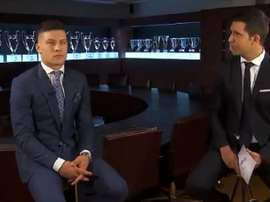 Jovic is happy to have signed for Real Madrid. Screenshot/RealMadrid