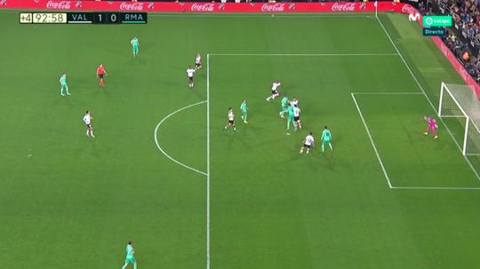 Gol anulado de Jovic nos acréscimos. Captura/Movistar+LaLiga
