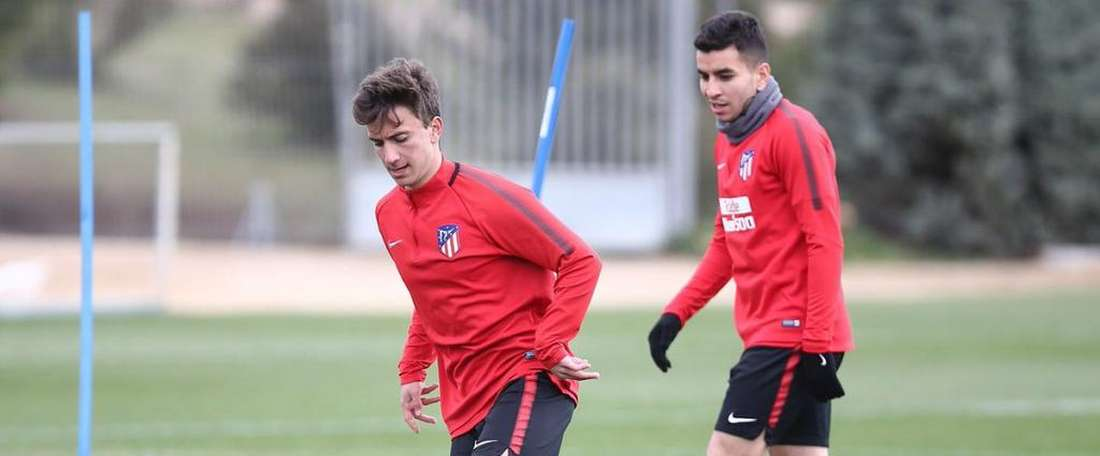 The promising youngster Juan Aguero was called up. Twitter/AtletiAcademia