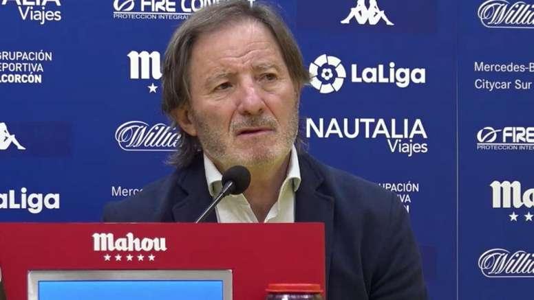 Anquela aplaudió el juego de los suyos ante el Lugo. ADAlcorcónSAD