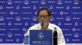 El técnico analizó el encuentro ante el Oviedo. Twitter/RCDeportivo