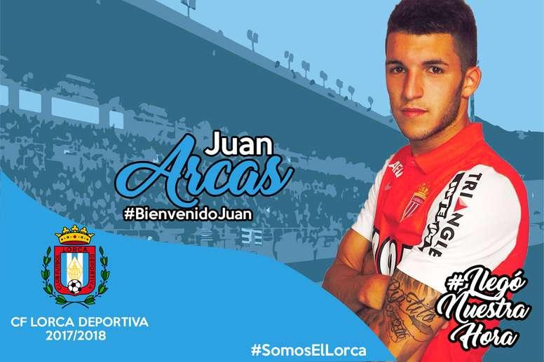 Juan Arcas reforzará al Lorca Deportiva. Twitter