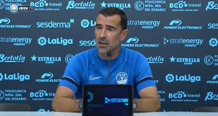 Carcedo habló en rueda de prensa. Captura/UDIbiza