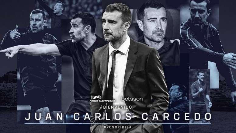 Juan Carlos Carcedo, nuevo técnico de la UD Ibiza. Twitter/ibizaud
