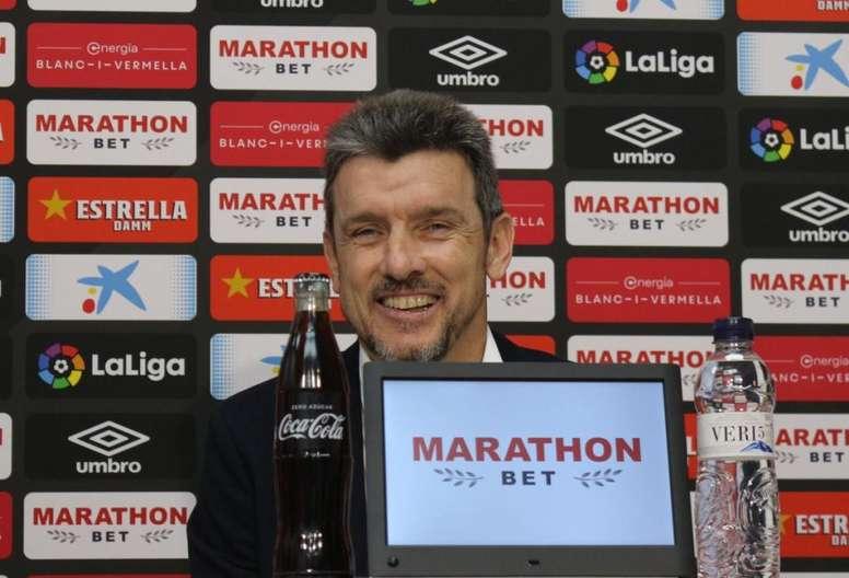 Unzué confía en la mejoría de los suyos. GironaFC