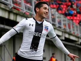 Juan Delgado, protagonista del Colo Colo-Ñublense. Twitter