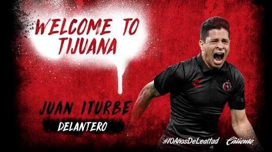 Iturbe joins Tijuana on loan. Twitter/Xolos