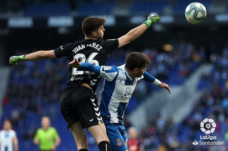 Juan Pérez debutó en el triunfo de Osasuna ante el Espanyol. LaLiga