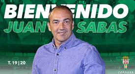 Juan Sabas, nuevo técnico del Córdoba. CordobaCF_Ofi