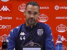 Juanfran no se fía de la inactividad del Almería. Captura/CDLugo