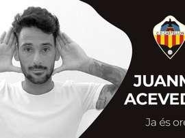 Juanma Acevedo, nuevo jugador del CD Castellón. Twitter/CDCastellón