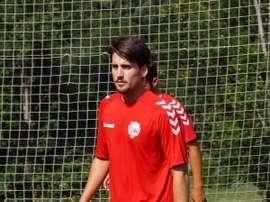 Juanto Ortuño ya entrena con el Llagostera. Twitter