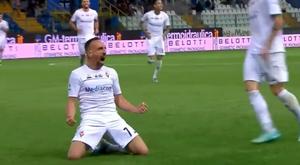 Ribery marca na Serie A pela primeira vez. Captura/Sky