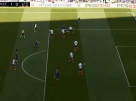Lance do gol de Paco Alcácer. Captura/LaLigaTV