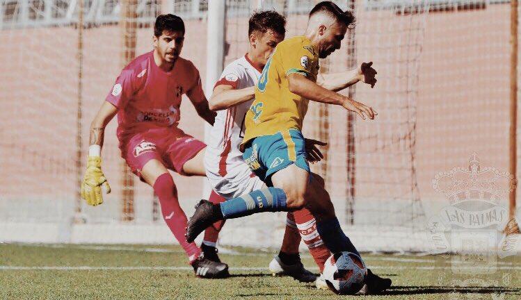 Dos jugadas de estrategia salvaron al filial amarillo. LasPalmasAtlético