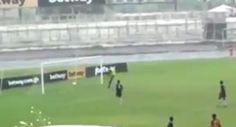 A player scored two own goals to prevent a successful fix. Twitter/SaddickAdams