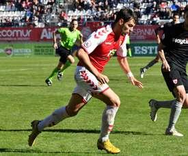 Tablas entre Murcia y Sevilla Atlético. Twitter/realmurciacfsad