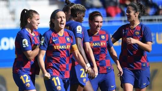 Barça y Deportivo, los más goleadores, se enfrentan. Twitter/FCBFemeni