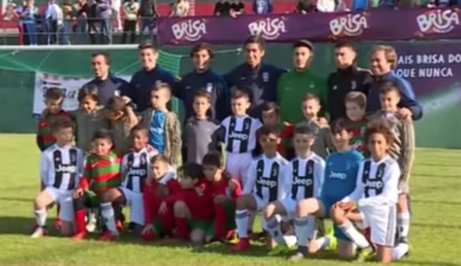 Cristiano Jr. segue as pisadas do pai. Captura/Youtube