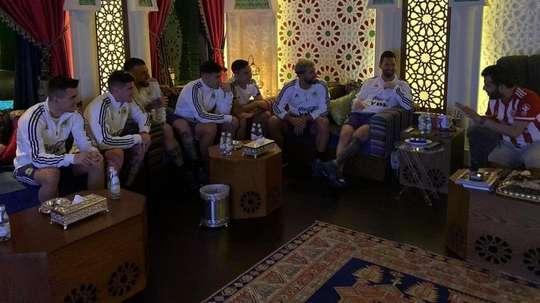 Futebol na casa do xeique. Captura/Turki_alalshikh