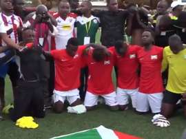 L'équipe du Burundi demande de l'argent. Twitter/BurundiFF