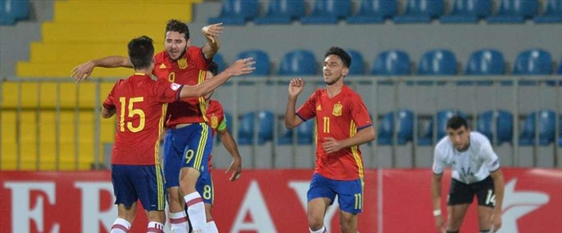 España cayó ante Grecia y se complica estar en el Europeo Sub 17. UEFA/Archivo