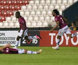 Jugadores de Independiente del Valle celebran su clasificación a la Libertadores. Twitter