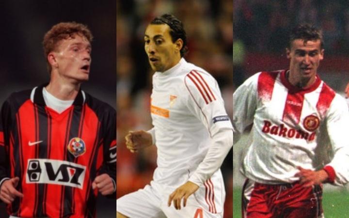 Jugadores de Kosice, Debrecen y Widzew Lodz.