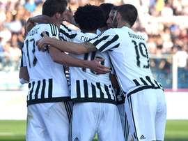 Jugadores de la Juve, celebrando un tanto marcado al Empoli. Twitter