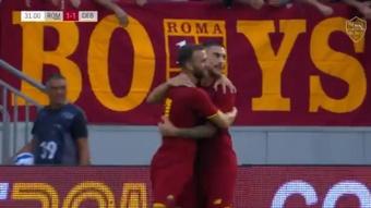 La Roma de Mourinho se pasea con una 'manita'. Captura/ASRoma