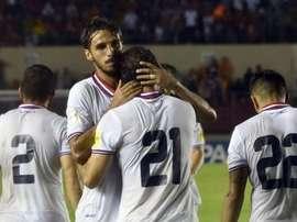 Costa Rica venció 1-2 a Panamá a domicilio.