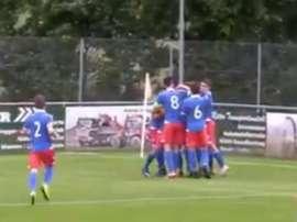 Le Liechtenstein U21 remporte la première victoire de son histoire. Capture/Youtube