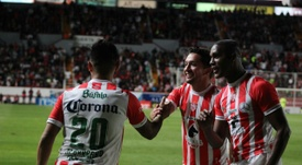 Necaxa doblegó por 2-1 a Santos. Twitter/ClubNecaxa