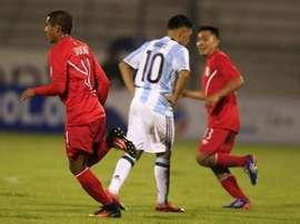 Um gol Lautaro Martínez salvou a Argentina Sub 20. EFE