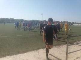 El partido entre Recreativo de Huelva y Betis de cadetes se suspendió. Twitter/recreoficial