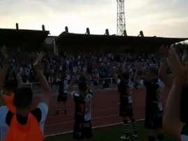 Unonistas logró su primera victoria en Segunda B. Twitter/UnionistasCF