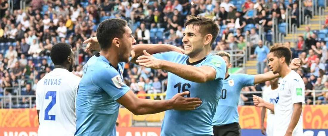 Uruguay all but booked their place in the last 16 of the U20 WC. Twitter/Uruguay