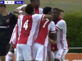 El Ajax ya está en las semifinales de la Youth League. Captura/UEFATV
